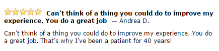 Dentistry for the Entire Family Patient Andrea D Testimonial