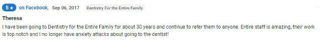 Dental work is top notch!