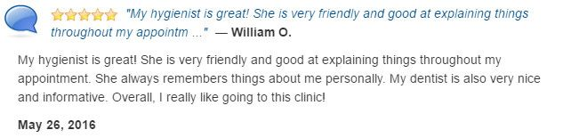 My hygienist was great! Personable, friendly, and thoroughly explained everything.