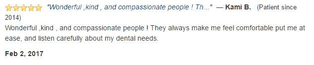 Wonderful, kind, and compassionate people. They always make me feel comfortable, and listen carefully to my needs.