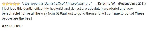I just love this dentist office! My hygienist and dentist are absolutely wonderful and very personable!
