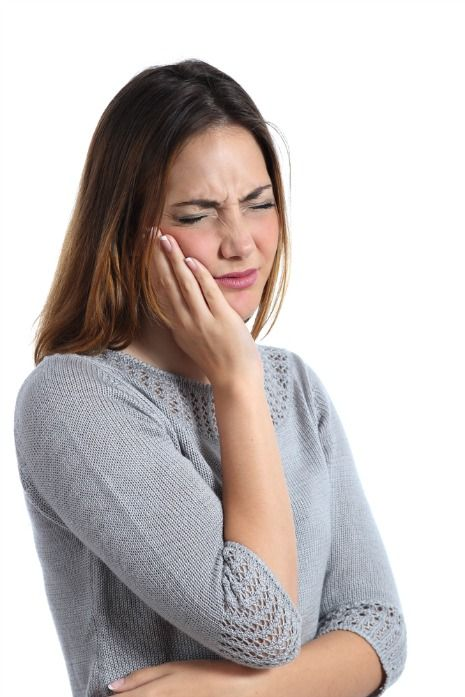 Person with sensitive teeth