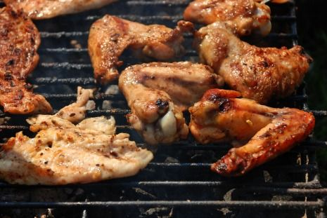 Picture chicken on grill