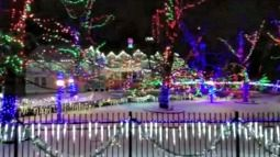 Dentist Cretzmeyer interview with Fox9 news about his holiday lights display