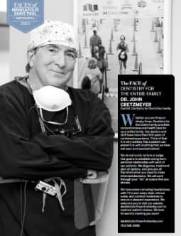Dentist John Cretzmeyer featured in 2020 MSP magazine Faces of Places